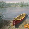 Red Canoe 3  by J O Huppler