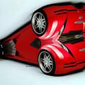 Red Car 007 by Rafael Salazar