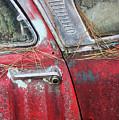 Red Car Door Handle by Patrice Zinck