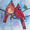 Red Cardinals by Don Hand