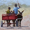 Red Cart by Yvonne Ankerman