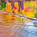 Red Cedar River Reflection At Msu by John McGraw