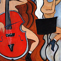 Red Cello 2 by Valerie Vescovi