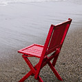 Red Chair On The Beach by Garry Gay