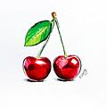 Red Cherry by Viktoryia Lavtsevich