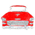 Red Chevy T-shirt by Edward Fielding