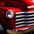 Red Chevy Truck by David Patterson
