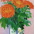 Red Chrysanthemums by Lian Zhen