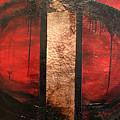 Red Circle Of Life by Ellen Beauregard