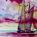 Red Cloud Sail by Linda Emerson