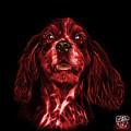 Red Cocker Spaniel Pop Art - 8249 - Bb by James Ahn