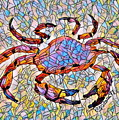 Red Crab Stained Glass by Scott D Van Osdol