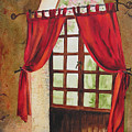 Red Curtain by Karen Stark