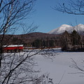 Red Dam And Percy Peaks In Winter by Dorothea Abbott