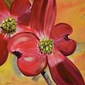 Red Dogwood - Canvas Wine Art by Jan Dappen