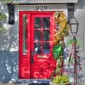 Red Door At Night -- Sailor's Delight by David Bearden