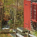Red Door At The Grist Mill In Fall 2017  by Marcus Dagan