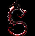 Red Dragon Serpent Named S by Abstract Angel Artist Stephen K