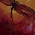 Red Dragonfly by Julie Lueders
