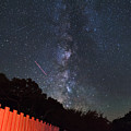 Red Fence Milky Way by Rick Felty