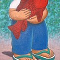 Red Fish And Blue Trousers. by Vico Vico