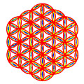 Red Flower Of Life by Chandelle Hazen
