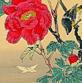 Red Flower with Bird 1870
