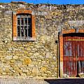 Red Gate, Stone Wall by Roberta Bragan