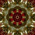 Red Gold Kaleidoscope 2 by Chandra Nyleen