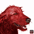 Red Golden Retriever Dog Art- 5421 - Wb by James Ahn