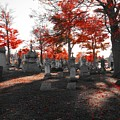 Red Fall Graveyard by Gothicrow Images