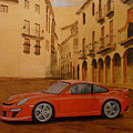Red Gt3 Porsche by Richard Le Page