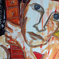 Red Guitar by Alex Crookshanks