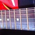 Red Guitar Neck by Paulo Roberto Ferreira