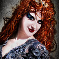 Red Hair, Gothic Mood. Model Sofia Metal Queen by Sofia Metal Queen