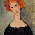 Red Head by Amedeo Modigliani