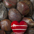 Red Heart Among Stones by Garry Gay