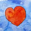 Red Heart On Blue by Jennifer Abbot