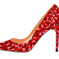 Red High Heel Shoe by David Smith