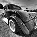 Red Hot Rod In Black And White by Gill Billington