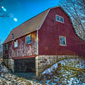 Red Indiana Barn by Ina Kratzsch
