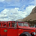 Red Jammer At Logan Pass by Cindy Rose