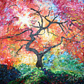 Red Japanese Maple by Tina Sheppard