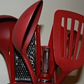 Red Kitchen Utencils by Rob Hans