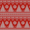 Red Knitted Winter Sweater by Long Shot