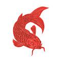 Red Koi Nishikigoi Carp Fish Drawing by Aloysius Patrimonio