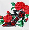 Red Leopard Roses by Karon Melillo DeVega