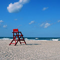 Red Life Guard Chair by Susanne Van Hulst