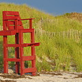 Red Lifeguard Seat by Jf Halbrooks
