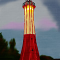 Red Lighthouse by Michael Kallstrom